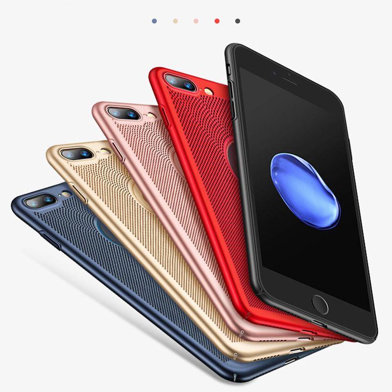 90ef871a214 Carcasas Para Celulares Estuche Para Teléfono Ultra Delgado Para IPhone 6  6s 7 8 Plus X Xs XsMax Xr Estuche Hollow Disipación De Calor Casos  Difíciles PC ...
