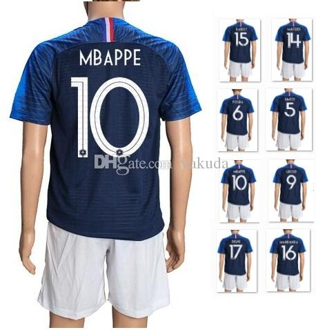 0d5f23474da 2019 2018 New Mens 7 Griezmann Soccer Jersey Sets With Shorts,Customized 11  Dembele 10 Mbappe 9 Giroud 6 Pogba 8 Lemar 10 Lacazette Soccer Wears From  Yakuda ...