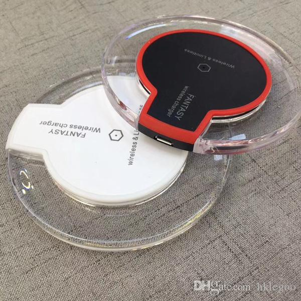 Qi Wireless Chargers For Iphone X 8 8Plus Fast Charging Pad Mini Ultra-Slim Wireless Charger For Samsung S8 S8 Plus Phone With Package