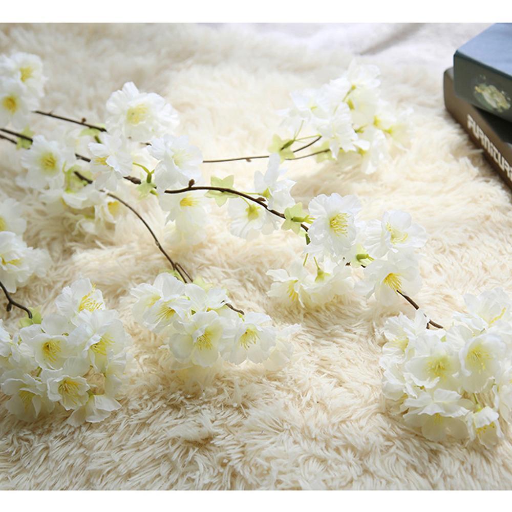 LIN MAN 1.35M Sakura Cherry Rattan Wedding decoración del arco Artificial Vine Flowers Bride Room Decoration Hanging Garland