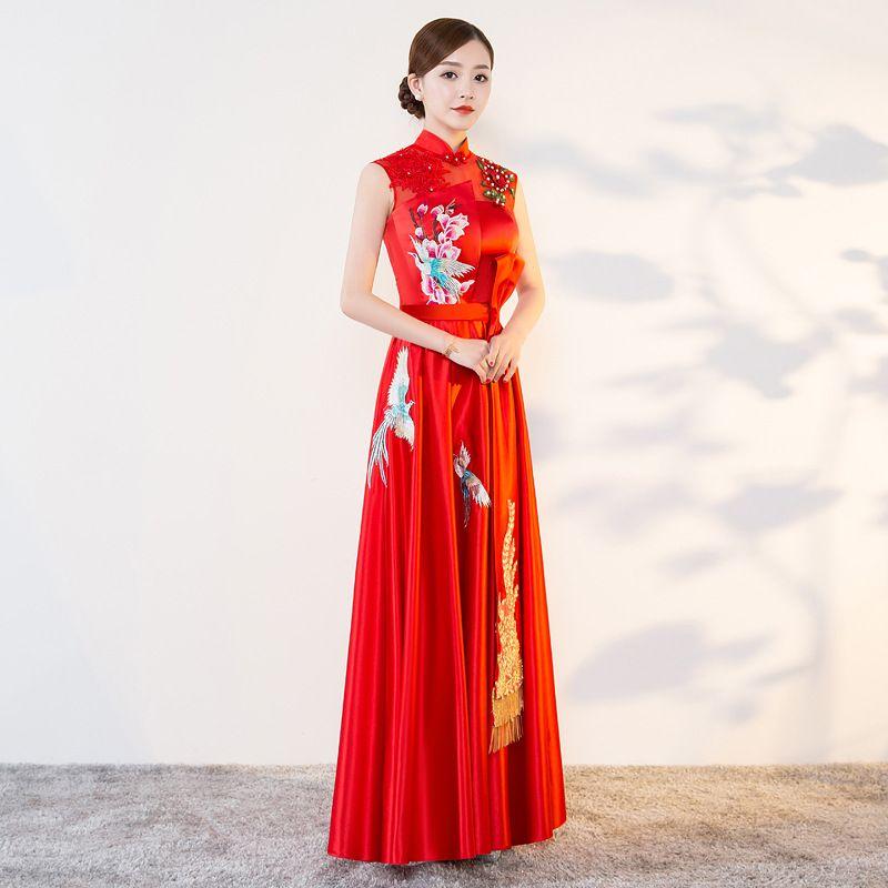 1761c3951 2019 2018 Modern Cheongsam Sexy Qipao Women Long Traditional Chinese ...