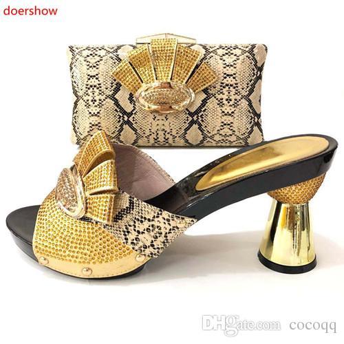 434d54281 Compre Nova Chegada Sapatos Africanos E Combinando Sacos De Sapatos E  Conjuntos De Sapatos De Festa Italiana Nigeriano Decorado Com Strass Bombas  Sapatas ...