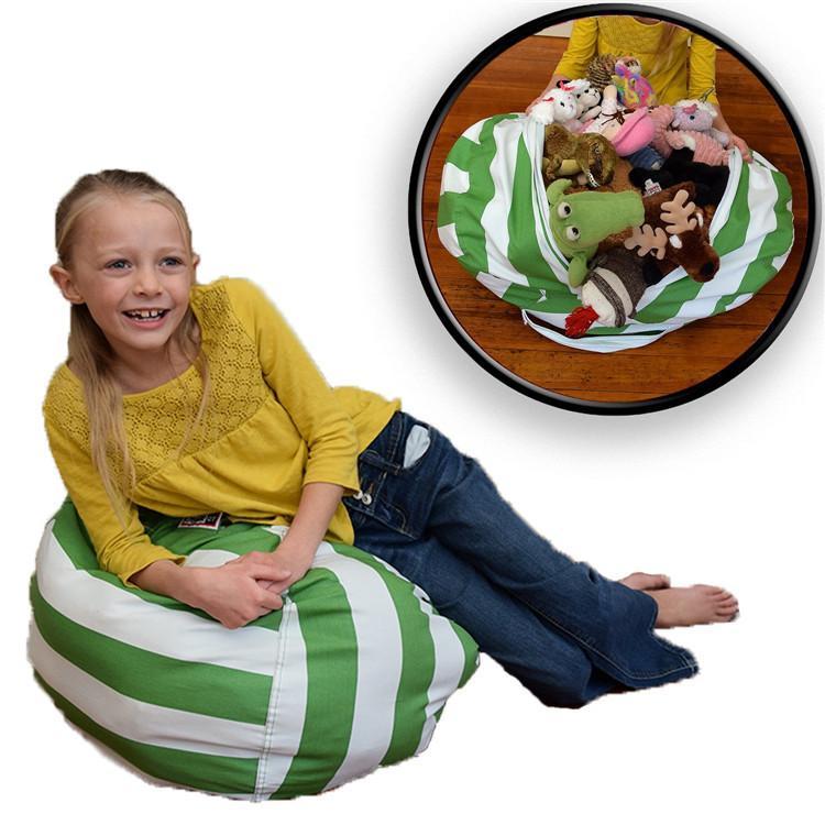 18inch 스토리지 콩 가방 Beanbag 의자 키즈 침실 동물 인형 인형 주최자 인형 장난감 버기 봉투 아기 놀이 매트