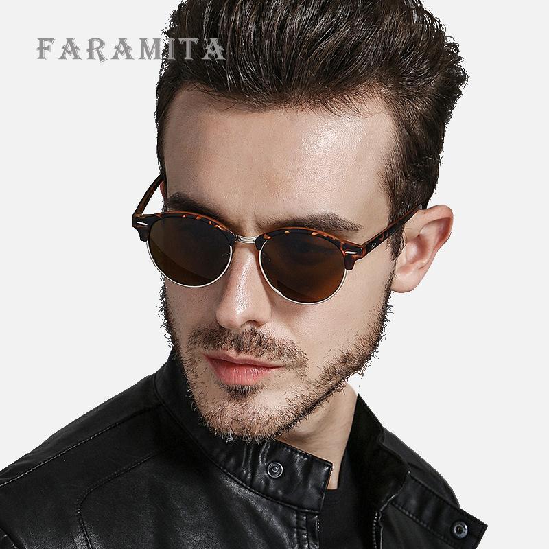 Compre Faramita Marca Steampunk Hombres Redondos Gafas De Sol Anti UV  Polarizado Marco De PC Retro Gafas De Sol Moda Street Style Espejo A  24.74  Del ... 8294aefc44f2