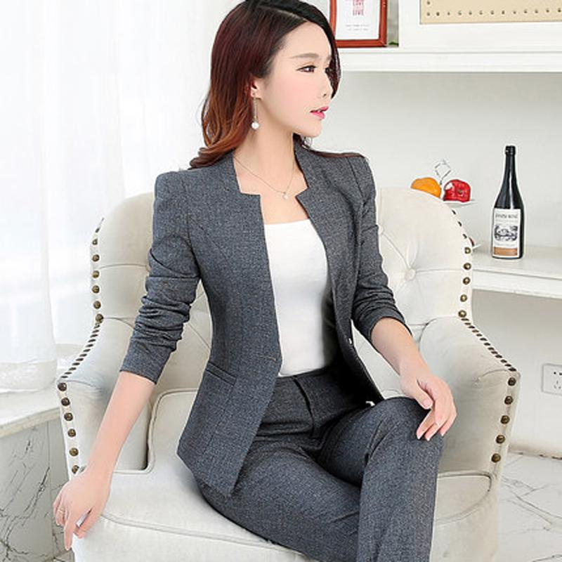 c3bb2067848 2019 Spring And Autumn New Women S Clothing OL Office Dress Interview Suit  Jacket + Slim Trousers Two Pieces   Sets From Balljoy