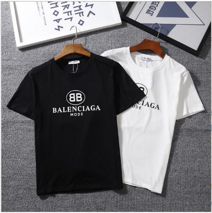 c1686b004 Mens Designer T Shirts Double B Letter Men's Designer Shirt Summer Short  Sleeve Fance Famous Brand Logo Print Women's Tee Shirt