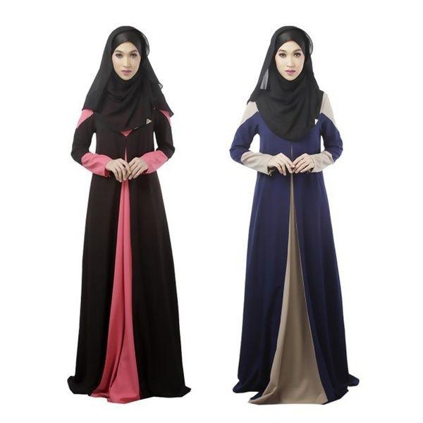 009e029b781 Muslim Women Vintage Kaftan Abaya Jilbab Islamic Cocktail Long Sleeve Maxi  Dress Black And White Cocktail Dresses Dresses Summer From Strawberry9