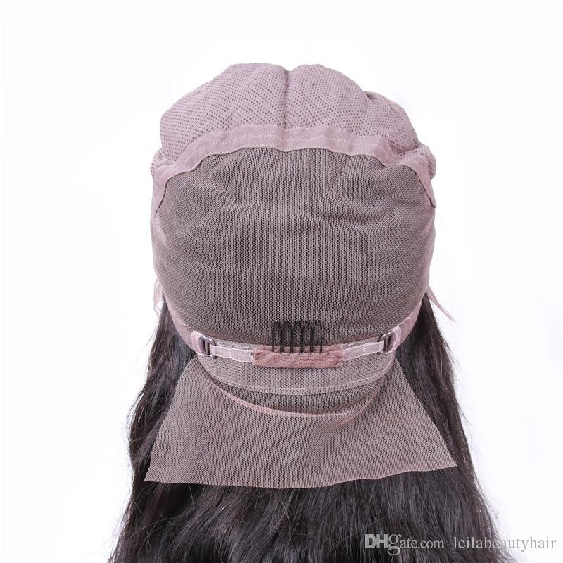 Pelucas del frente del cordón de la onda del cuerpo del cordón del pelo humano de la virgen brasileña pre arrancada pelucas con el color natural del pelo del bebé