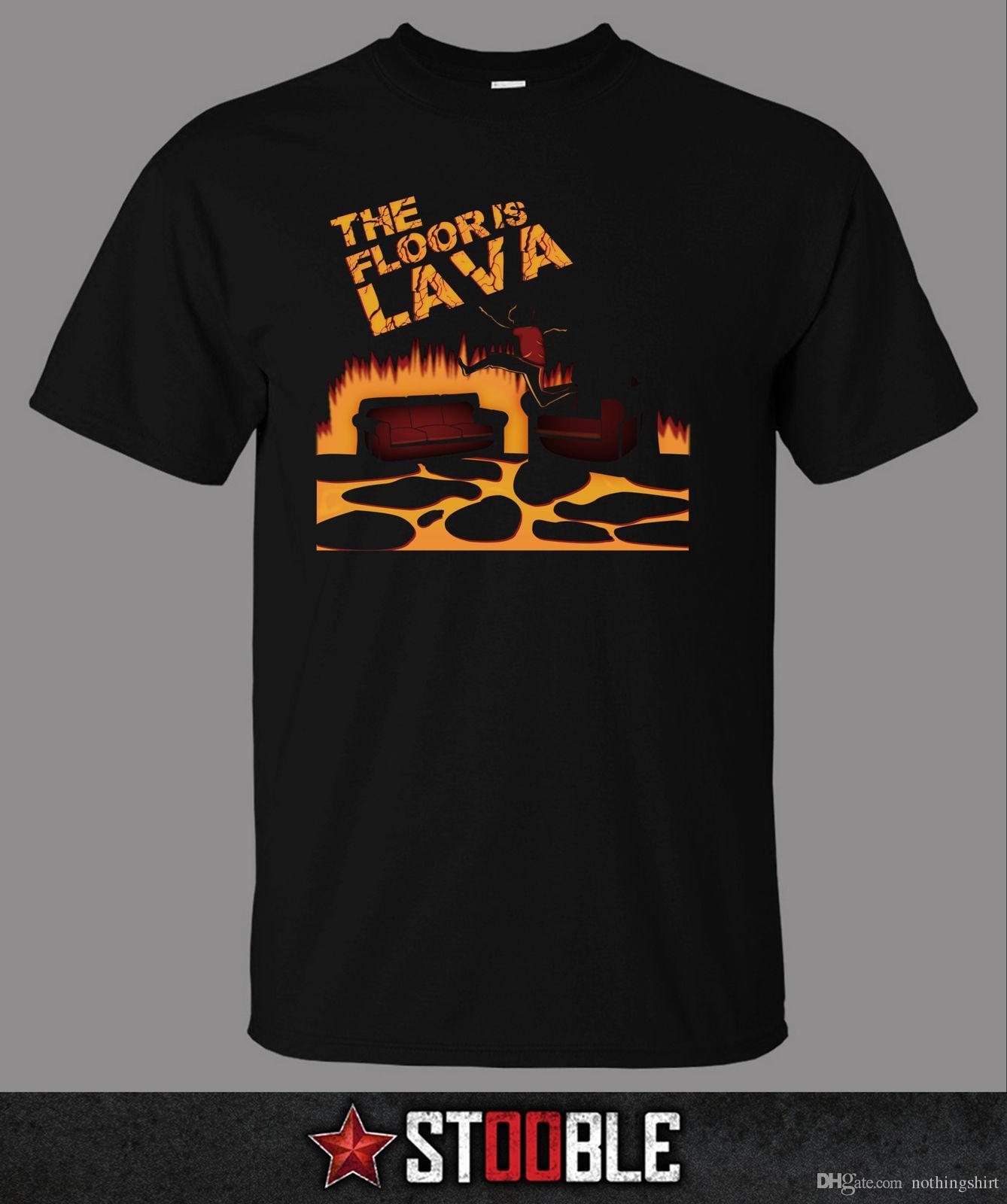 Grosshandel Der Boden Ist Lava T Shirt Direkt Von Stockist Von