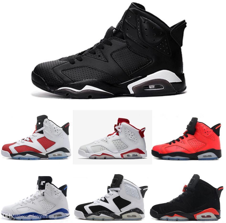15b64dbf01b563 6 Carmine Basketball Shoes Classic 6s UNC Black Blue White Infrared Low  Chrome Women Men Sport Blue Red Oreo Alternate Oreo Black Cat Wide Running  Shoes ...