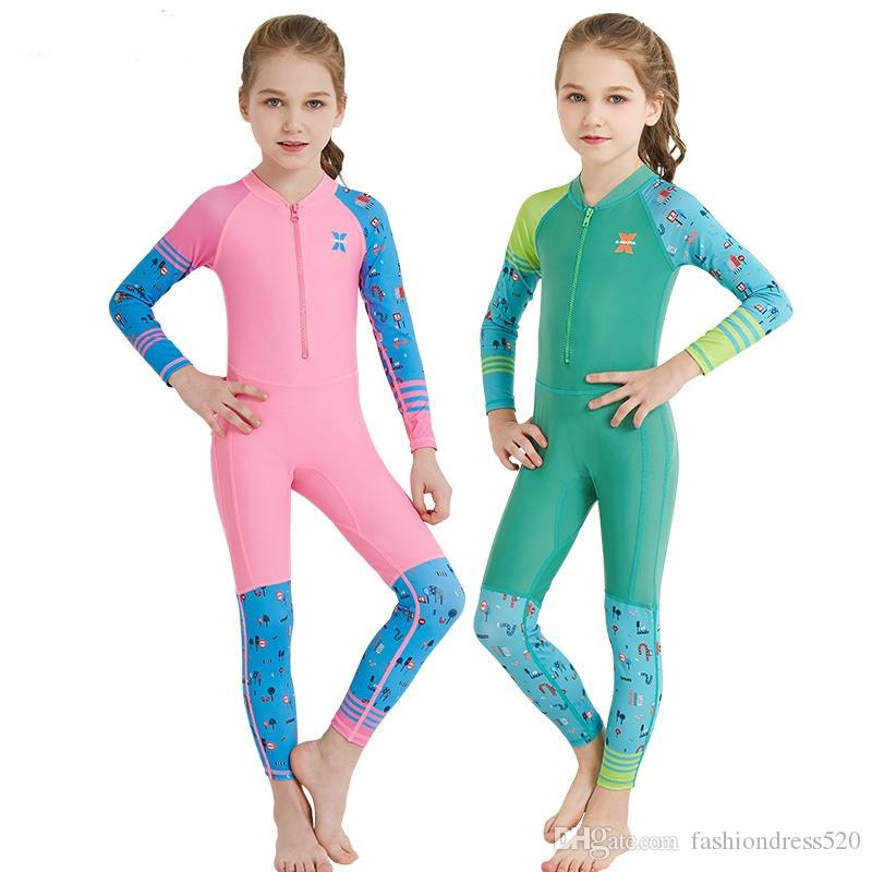 Kids Baby Boys Girls Rash Guard Swimsuit Sun Protection Swimwear Wetsuit UPF 50+