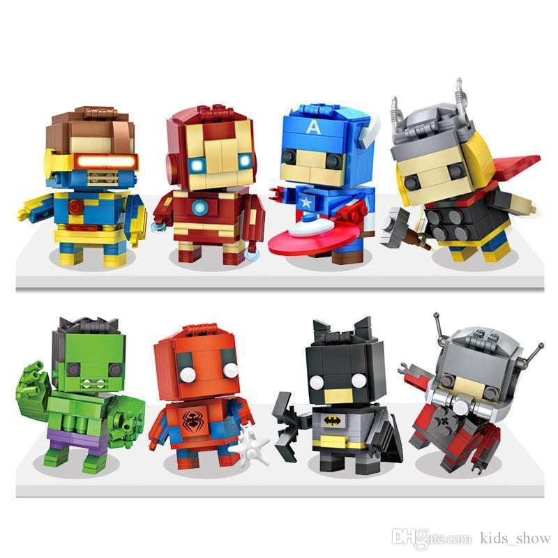 Captain America Building Block Building Sets Puzzle Hulk Superman Spiderman Bat man ironman Minifig Black Widow Dead Mini Figures