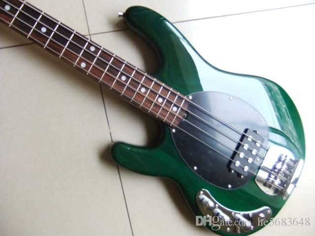 Wholesale New Left Handed 4 string electric bass guitar musicman Bass guitar in Green 110813