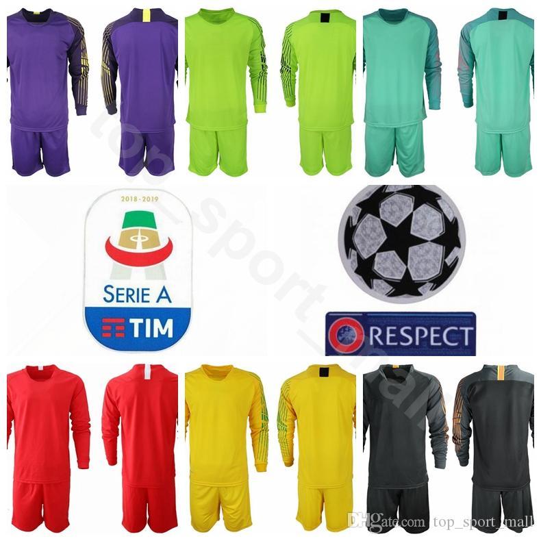 sports shoes a5c03 32324 FC Goalkeeper AS Roma Long Sleeve 1 Robin Olsen Jersey Set Men Serie A  Soccer 83 Antonio Mirante 1 ALISSON Football Shirt Kits