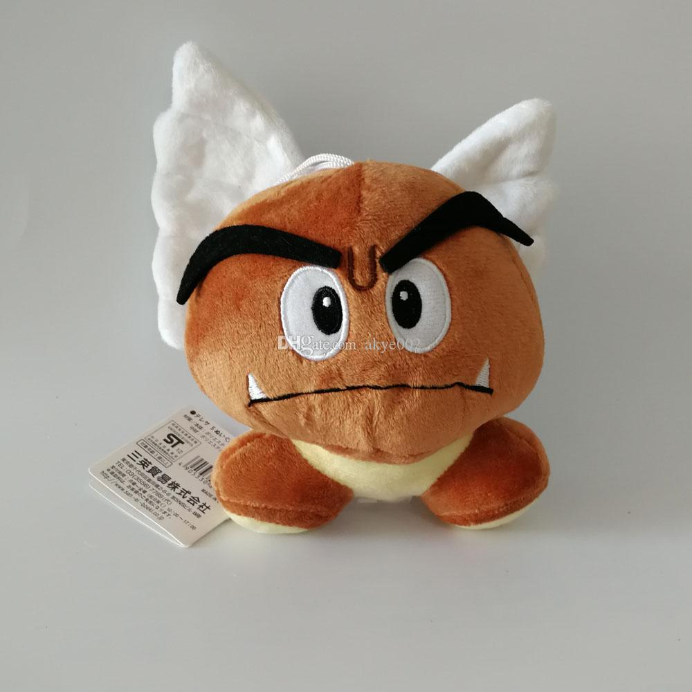 Hot Sale 13-15cm 5 Style Goomba Super Mario Bros Plush Stuffed Doll Toy For Kids Best Holiday Gifts
