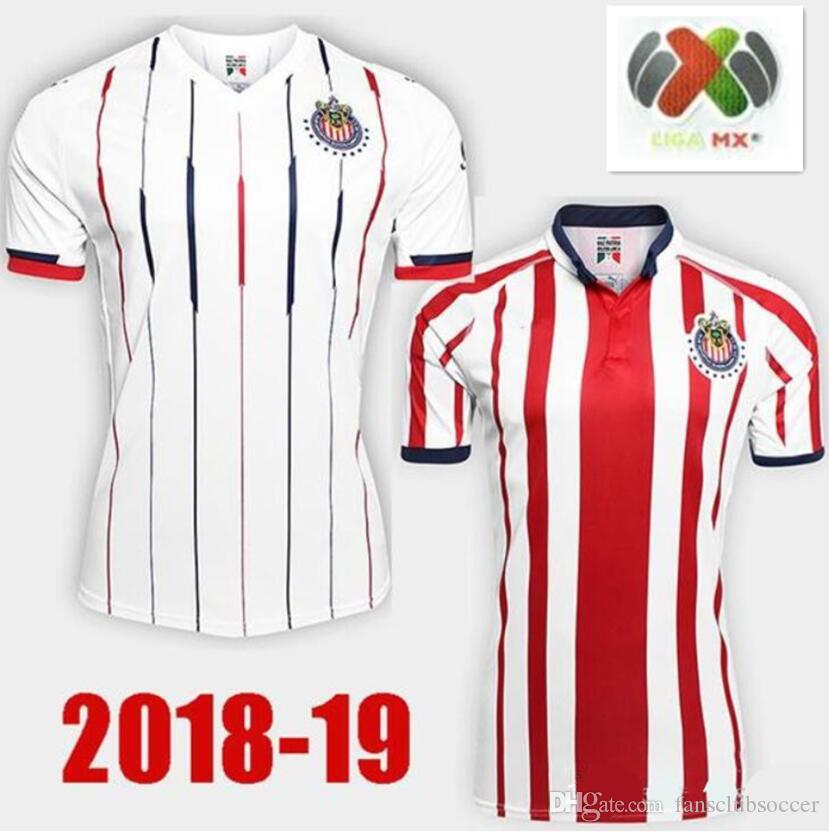 2019 New Arrived 2018 MEXICO Club Classic Chivas De Guadalajara Home Soccer  Jersey 2019 Authentic Champion Camiseta De Futbol Football Shirts From ... ebd86a6d20b05