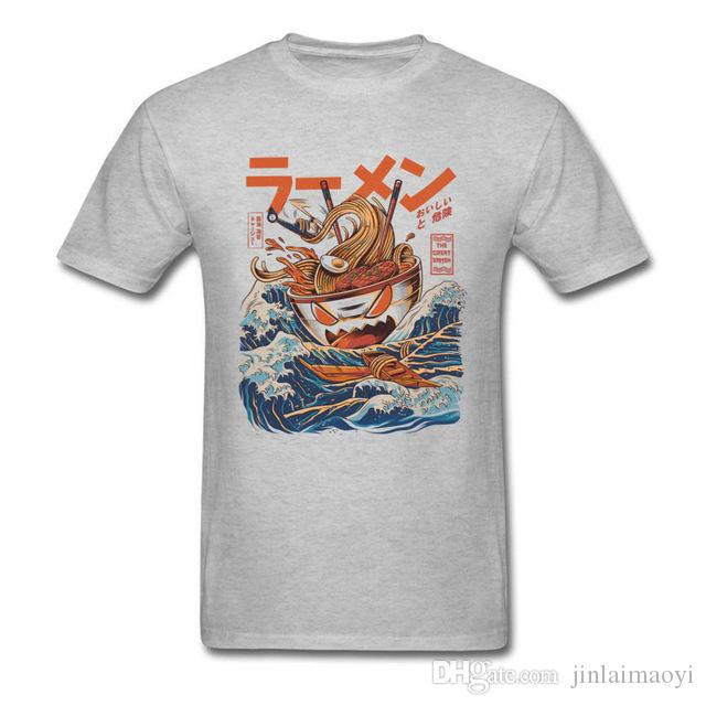9657ef3fa Japanese Harajuku T Shirt Noodle Monster Tshirt Naruto Cartoon Tshirt Great  Ramen Of Kanagawa Funny T Shirts Summer Fitness Basic Cotton Tee Funny It  Shirts ...