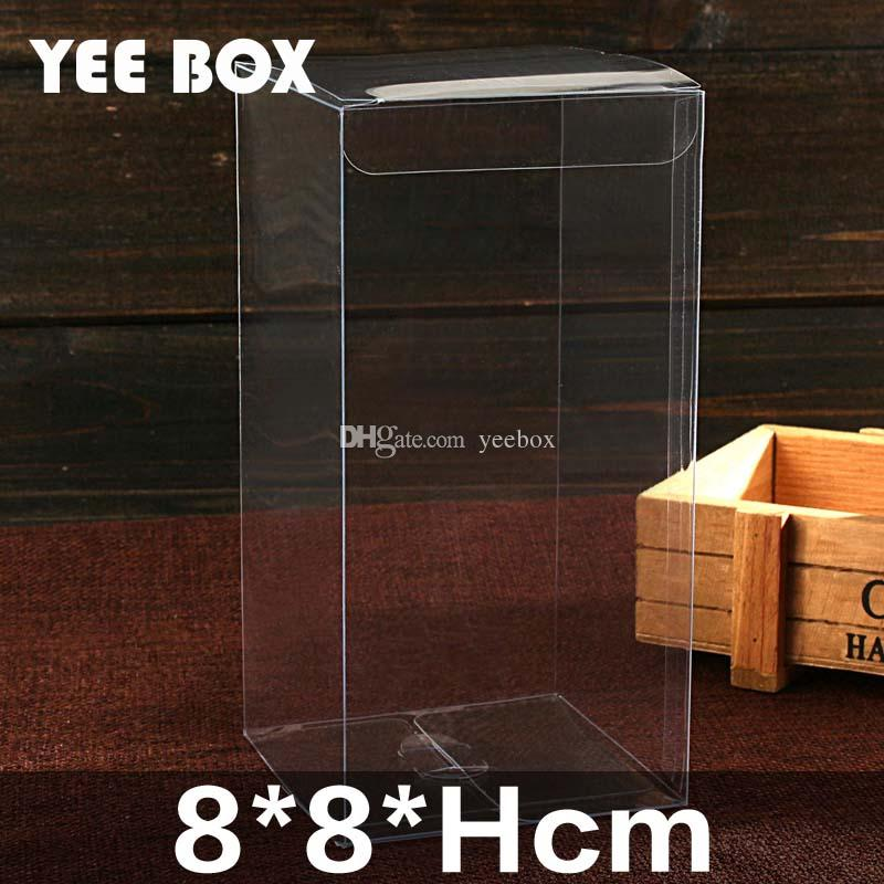 8x8xhcm Packaging Bo Transpa Plastic Container Retail Chocolate Candy Box Gift Package Custom Pvc Clear