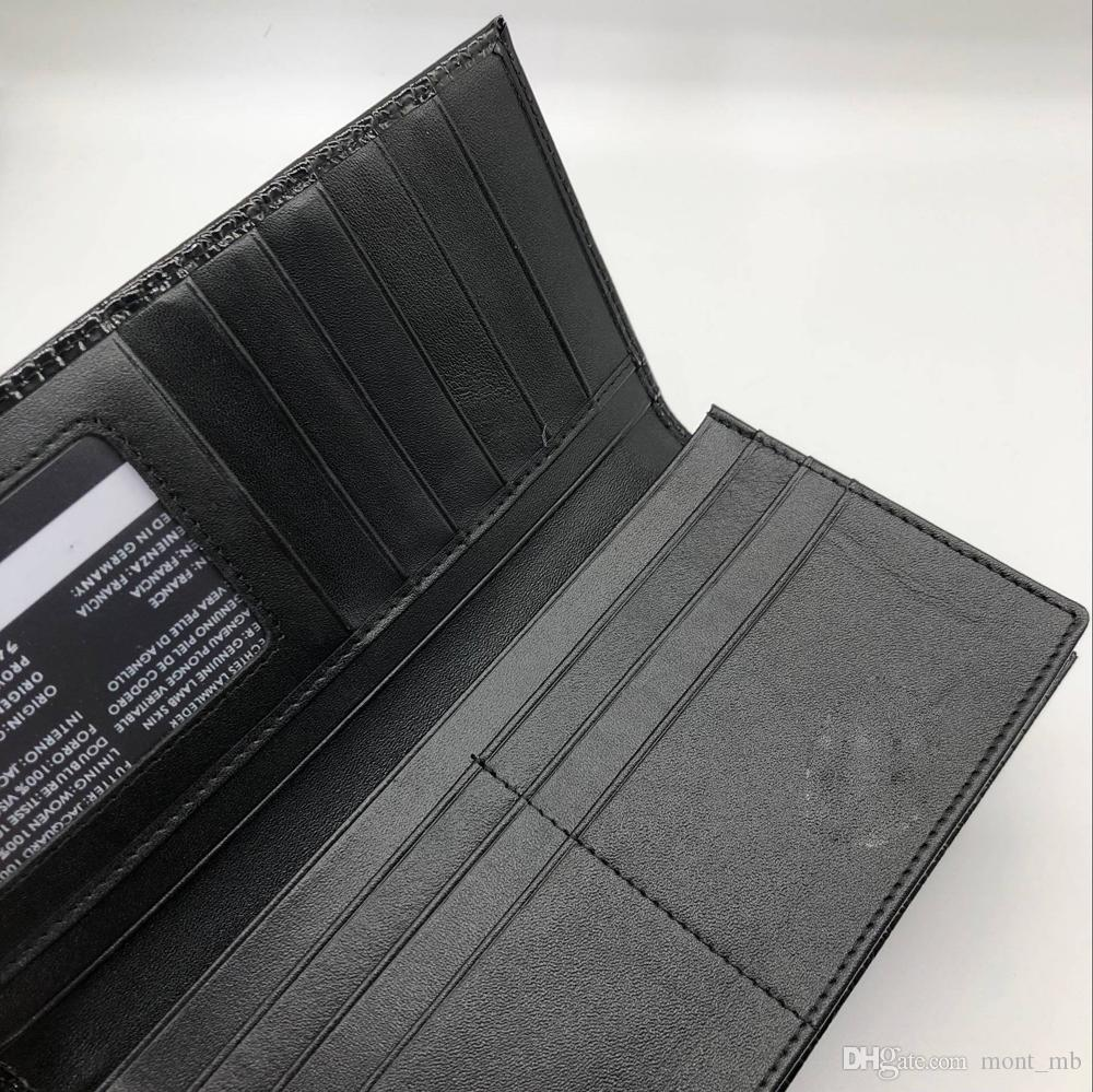 The new top luxury M B hot leather men's business fashion wallet short wallet MT wallet card holder wallets MB high-end gift box