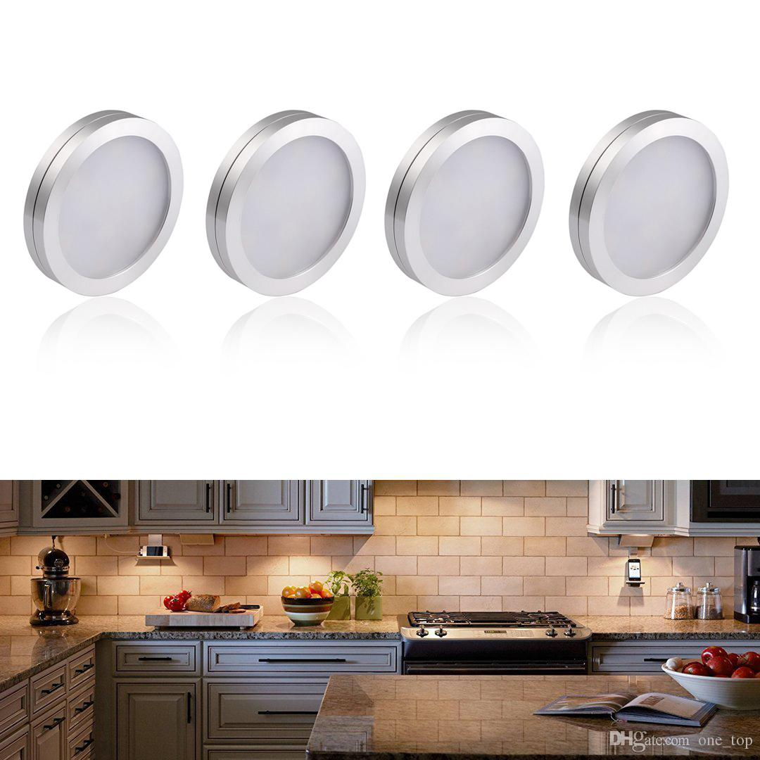 Dc 12v 2w Led Under Cabinet Lighting Kit, 3000k 3500k Warm White, Puck  Lights Showcases Pub Lighting Surface Mounted Best Downlights Down Light  Covers From ...