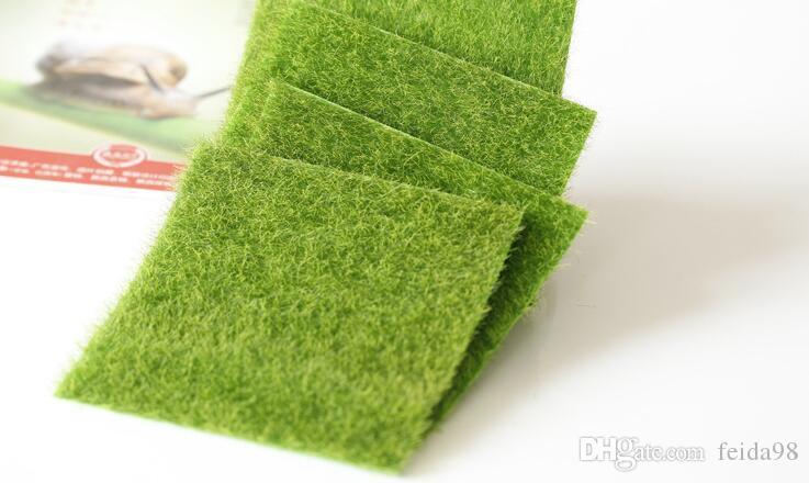 Искусственные поддельные мох декоративные газон микро пейзаж украшения DIY мини Фея сад моделирование растения Дерн зеленая трава 15x15 см Небольшой размер