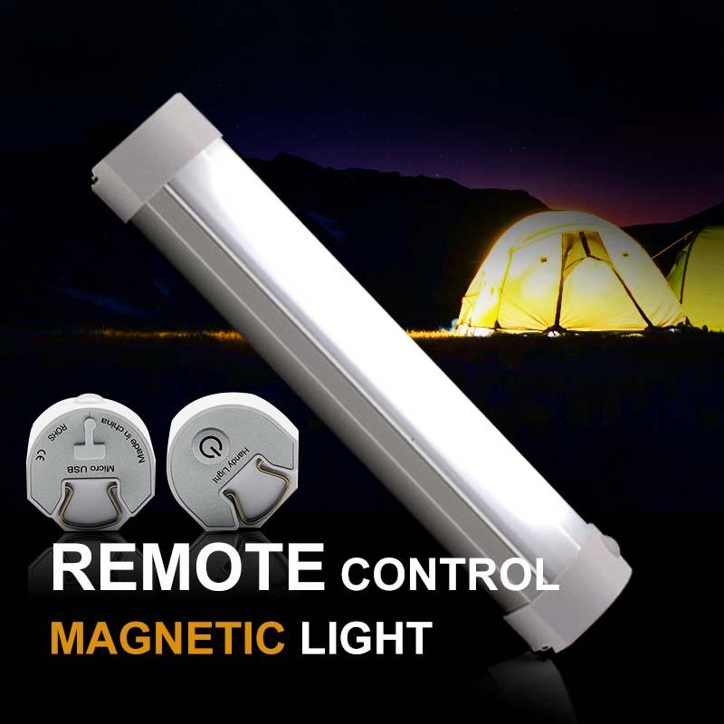 IR Remote Control Camping Light 1W Black White USB Rechargeable Portable Lamp Strong Magnet Hanging Bivvy Light for Fishing