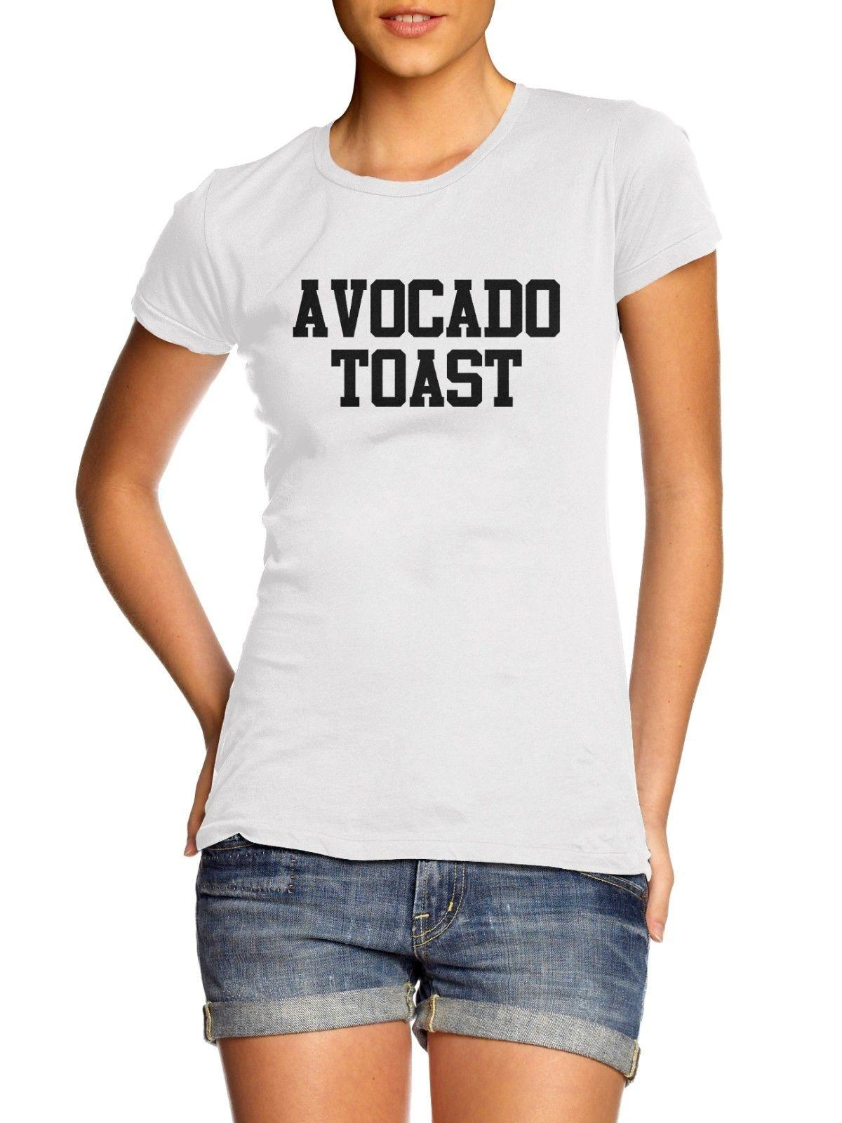 Avocado toast Slogan White T Shirt Womens Small Foodie SALE CLEARANCE A4 Funny free shipping Unisex tee