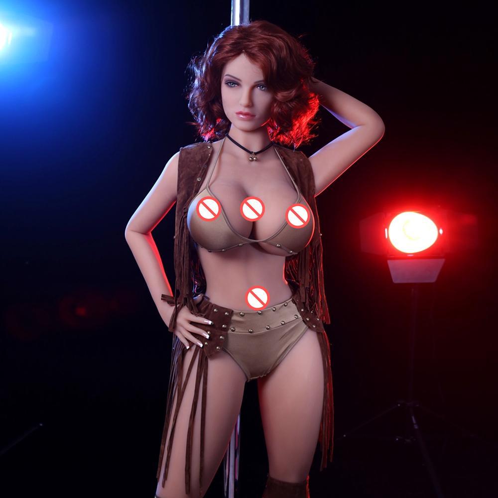 5.3ft 163cm Full size European Women Adult love babe Doll 163CM TPE Silcione Sex Doll Muscle silicon Dolls for men Masturbation