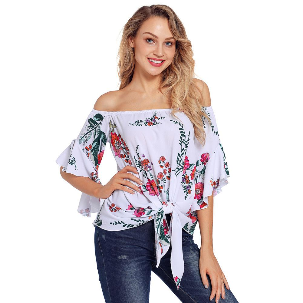 ac655b57b97 2018 Plus Size Women Clothing Slash Neck Summer Women T Shirt Casual Loose  Off Shoulder Large Size Hollow Out Sleeves Tops Awesome T Shirts Designs  Cool ...