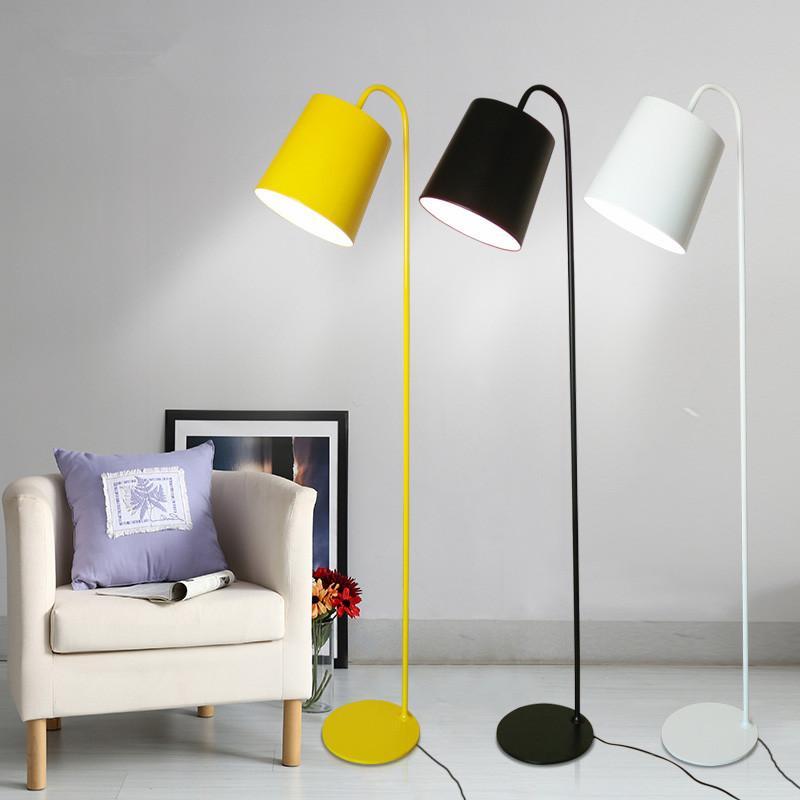 Lampadaires modernes Colin Lumières H160cm 110V / 220V E27 LED Chambre  jaune / blanche / noire Salon Foyer Étude Lampes Hôtel Loft Café Bar  Accueil ...