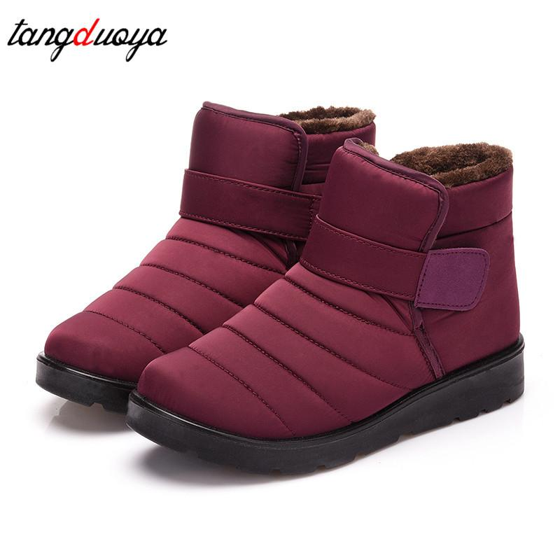 2019 Snow Boots Waterproof Winter Boots Women 2018 Short Boots Ankle ... 3e4fcb102f