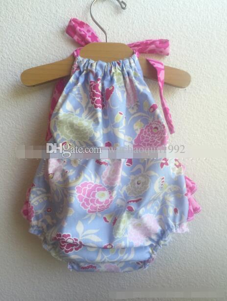 7 Estilos INS Baby girl Sirena Flecha de algodón flor peleles 2017 nuevos Niños ins de dibujos animados sin mangas mamelucos de la honda