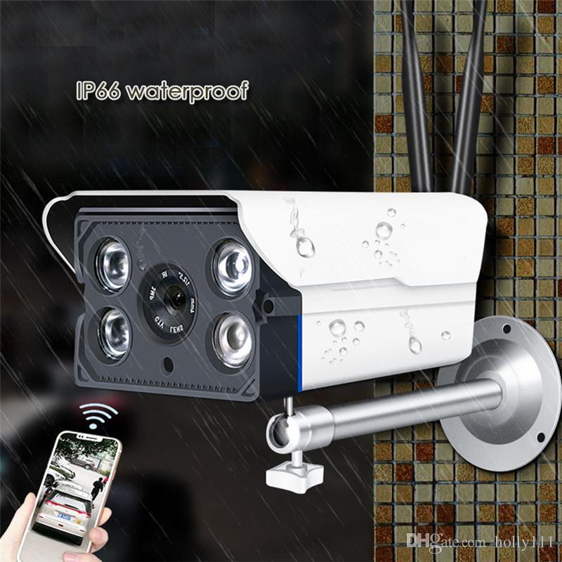 الكاميرات النائية 720p HD شبكة واي فاي للماء الأشعة تحت الحمراء للرؤية الليلية كاميرا للمنزل WIFI IR رؤية الليلية APP مراقب دي إتش إل الحرة الشحن