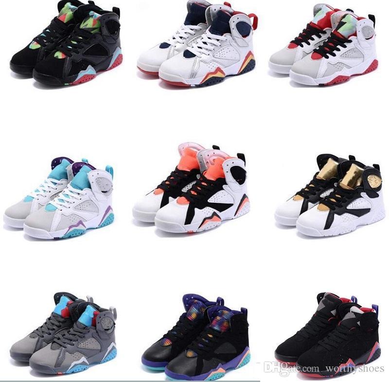 newest 26163 4c5cc Acheter 7S Enfants Chaussures De Basket Ball Chaussures De Sport Athlétique  J Régression Aérienne 7 Chaussure Chinoise Livraison Gratuite Baskets Kobe  De ...