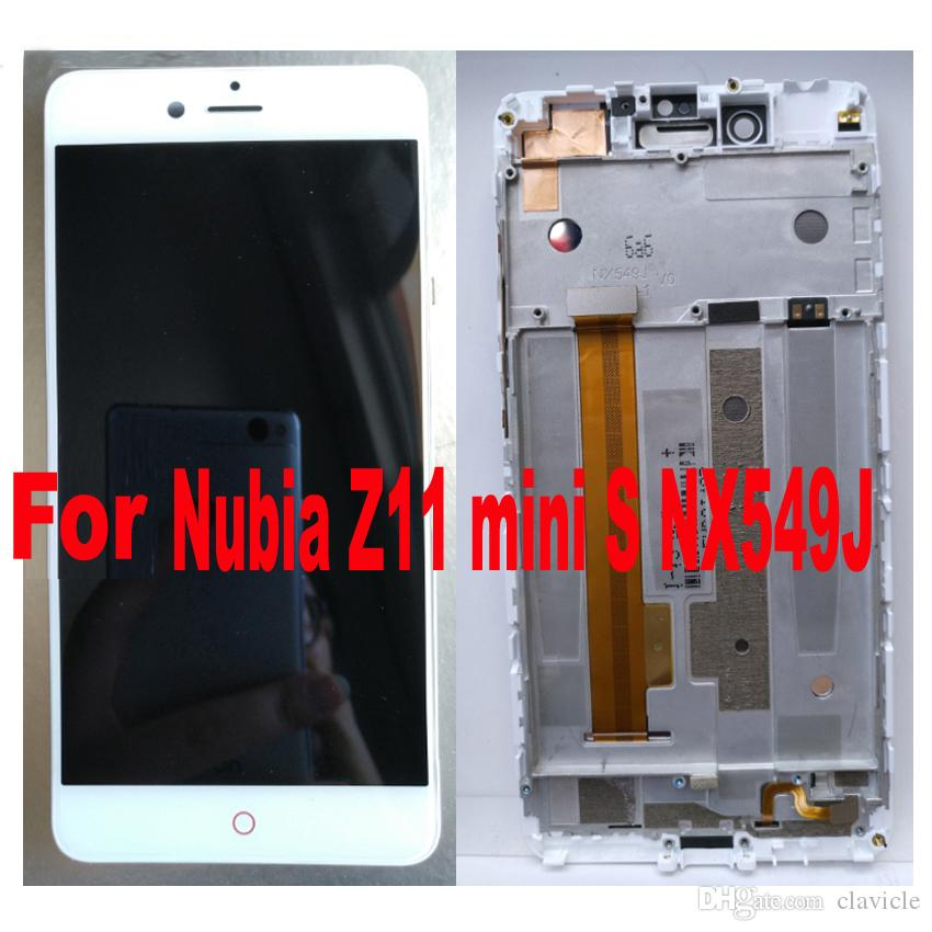 For 5.2inch Black White LCD Display with Touch Screen Digitizer Assembly with frame For ZTE Nubia Z11 mini S Minis NX549J