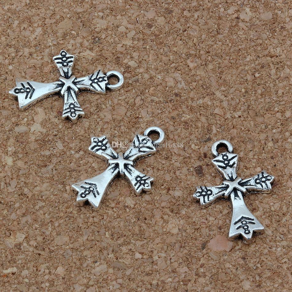 Croix Charms Pendentifs / 15x21mm Antique Argent Bijoux De Mode BRICOLAGE Fit Bracelets Collier Boucles D'oreilles A-268
