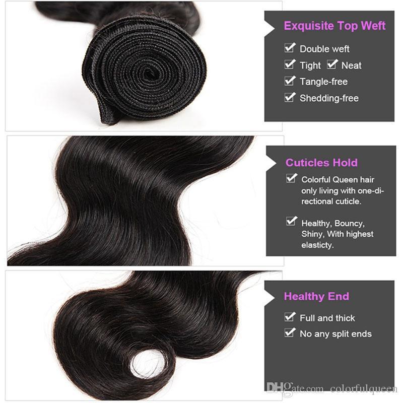 Günstige Brasilianische Reine Haarkörperwelle 3 Bundles Weave Wefts Unverarbeitete Menschenhaarverlängerung Natürliche Brasilianische Haarkörperwelle 8-30 Zoll