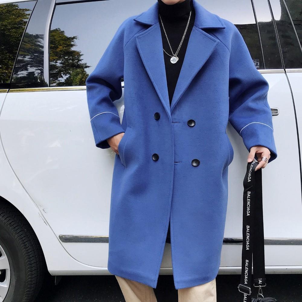 Men's 2019 Fashion Winter Woolen 2018 Collar Suit Blends Thicken qCg17gp