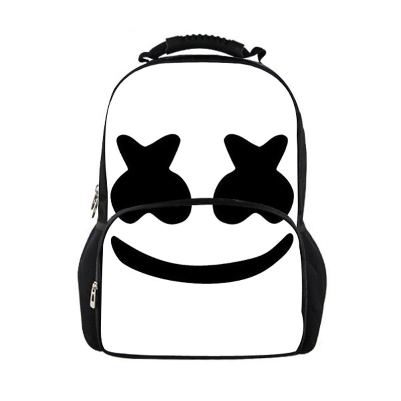 New Women Backpack Marshmello School Bags for Teenagers Girls Boys Stylish  Children Bagpack Ladies Travel Bag Student Mask Dj Backpacks Cheap Backpacks  New ... f774f6570dd61
