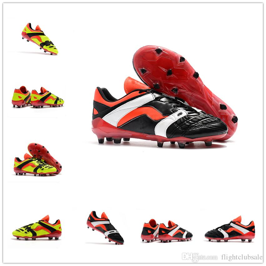 new product 695e6 ab693 2019 With Box Predator Accelerator 1998 Electricity David Beckham FG Soccer  Cleats Mens Soccer Shoes Football Boots Wholesale Drop Shipping From ...