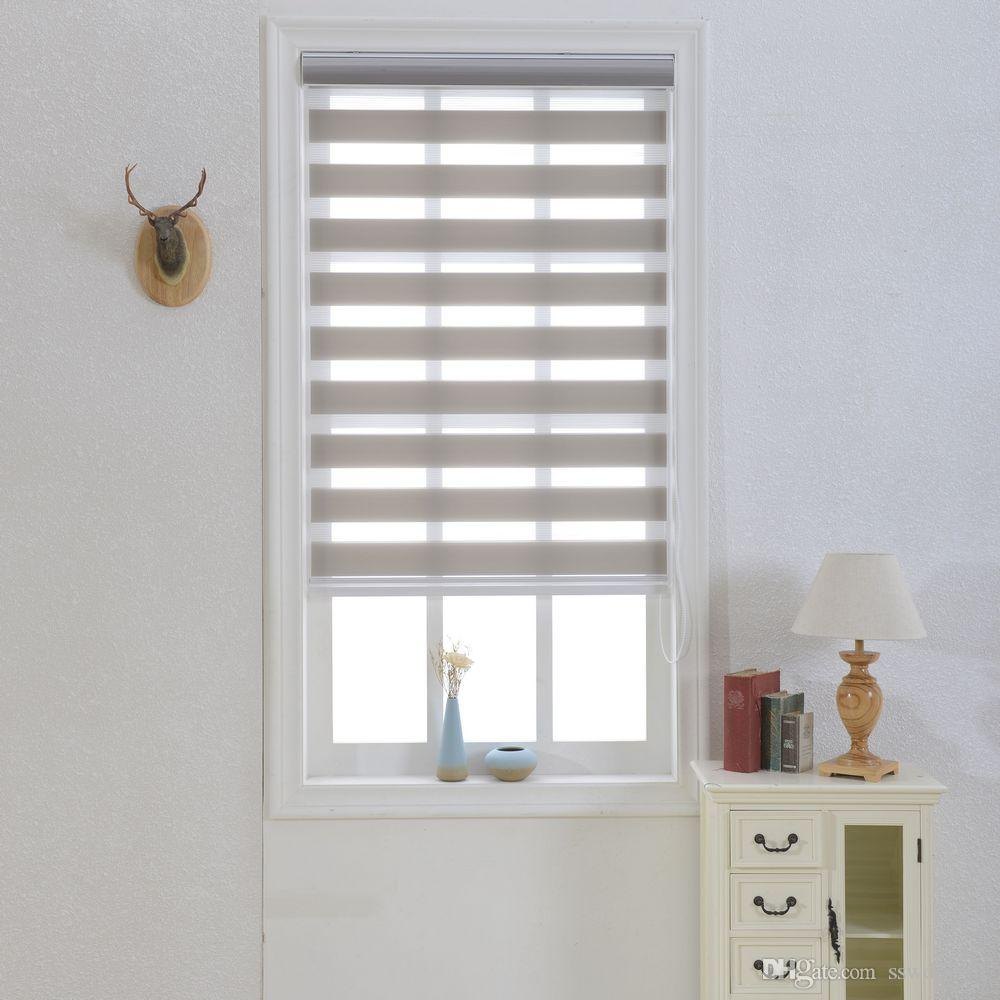 Zebra Blinds Translucent Roller Blinds Shades Double Layer Custom ...