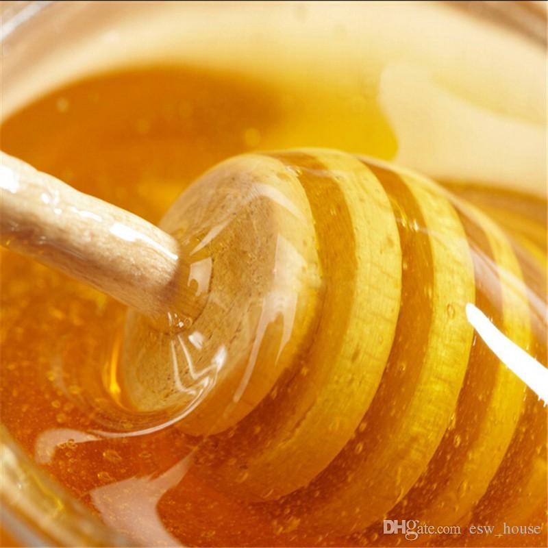 Mini Holz Honig Stick Honig Dippers 8 cm Partei Versorgung Löffel Stick Honig Jar Stick Kaffeelöffel Hochzeit Bar Lieferung Freies Verschiffen