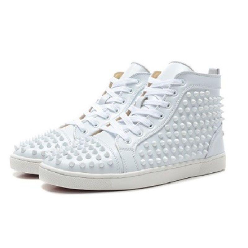 buy popular 2659a a7fef Mizuno Running withoriginal Box Scarpe Da Uomo Red Bottom Sneaker Scarpe Da  Sposa Di Lusso Feste, In Vera Pelle Louisfalt Spikes Lace Up Scarpe Casual  Nere ...