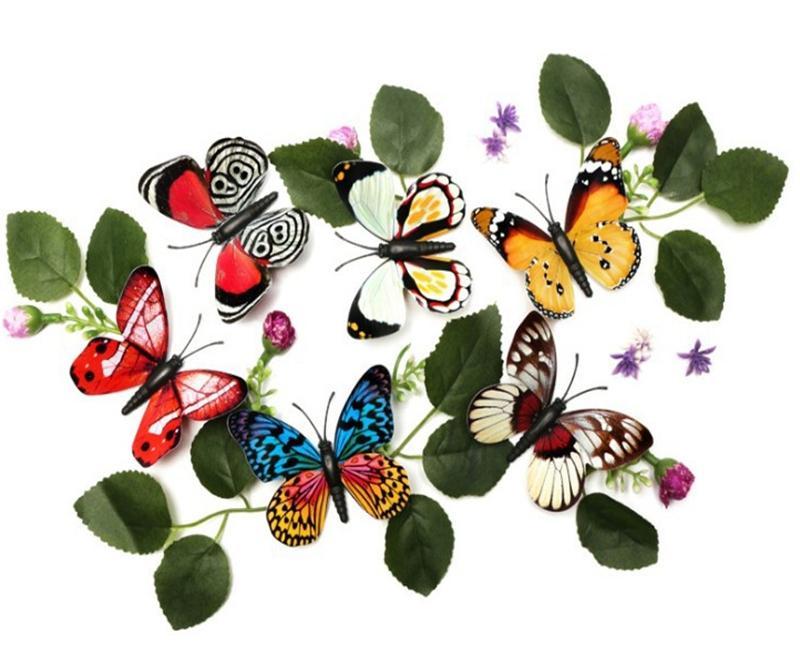 200 teile / los 8 cm Magnet Noctilucence Wand Sicker leuchtenden 3D Schmetterling Aufkleber Kunst Wandaufkleber Zimmer Magnetische Dekoration