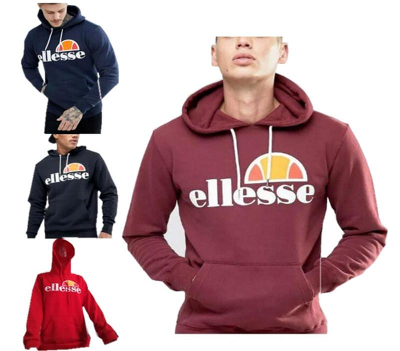 37d0e80f Pullover Hoodie ELLESSE Men Sweatshirt Clothing Unisex Long Sleeve Hooded  Tops Women Fashion Hip-Hop Travel Campus Plus Size Autumn Outwears Fortnite  Game ...