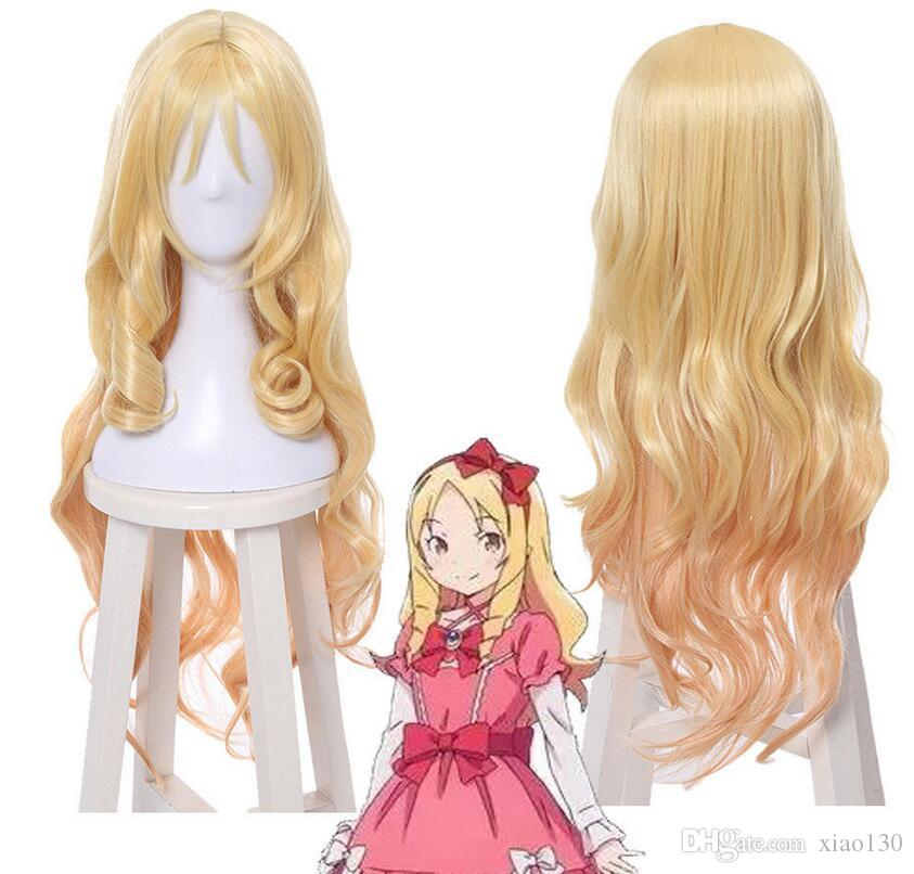 Eromanga Sensei Elf Yamada Long Blonde Curly Wavy Style Halloween