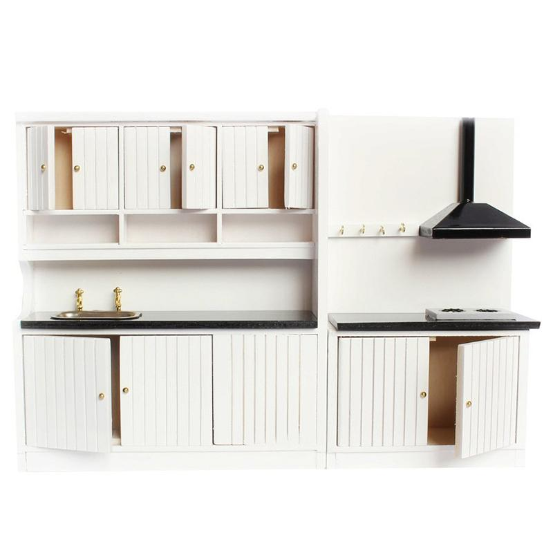 Hot Sale 1 12 Dollhouse Miniature Furniture Wooden Kitchen Set