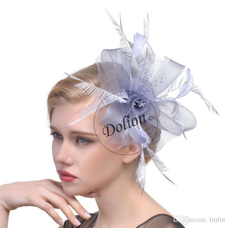 2978e66e772 European And American New Style Net Gauze Bridal Headdress Hair Decoration  Pictorial Feather Net Hat Wedding Veil Headdress Msm 003 Cheap Hair Bows  Cheap ...