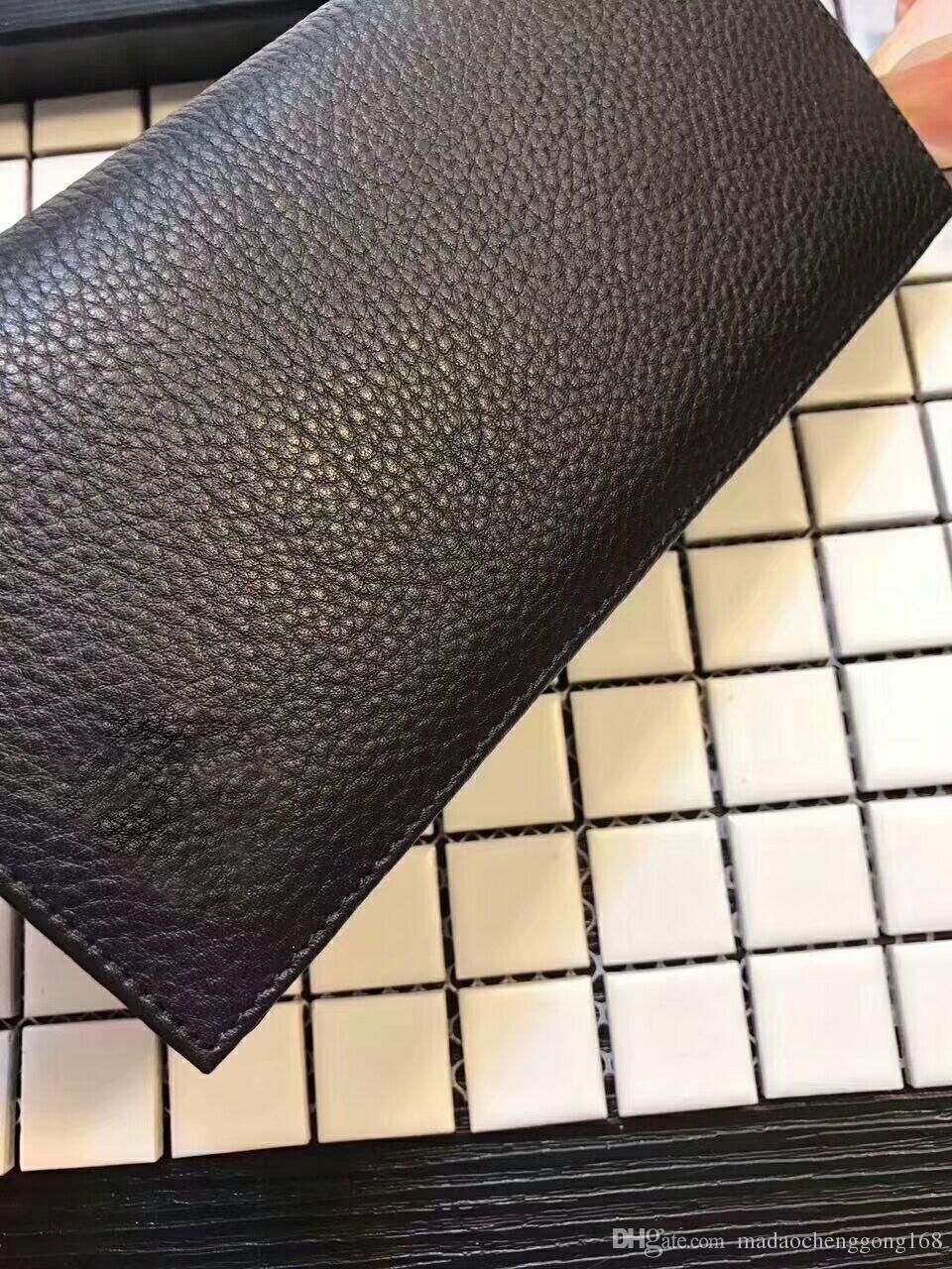 2021 Brieftaschen Geldbörse Männer Geldbörse Neue Marke Echtleder Kupplung Brieftasche Mode Männer Geldbörse Arteira Masculina Kartenhalter Tasche Männer Geldbörse mit Kiste