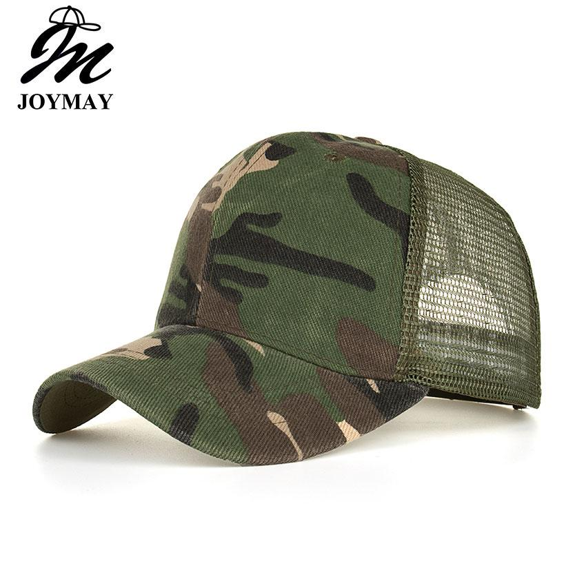 e694f73fa1e JOYMAY Spring Summer New Sun Hats For Men Fashion Style Man Cap Camouflage  Mesh Baseball Cap Casual Leisure Hat B530 Custom Fitted Hats Design Your  Own Hat ...